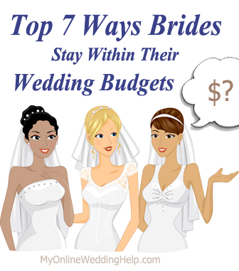 7 Ways to Save Money on Your Wedding | http://www.myonlineweddinghelp.com