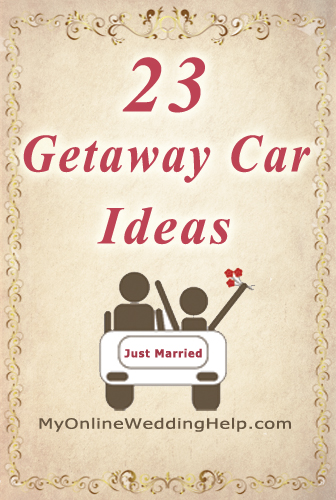 23 wedding getaway car ideas. | #MyOnlineWeddingHelp MyOnlineWeddingHelp.com