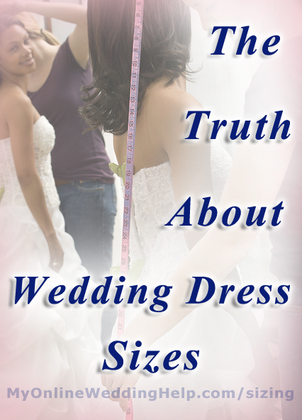 How wedding gown sizes are different from regular dresses.