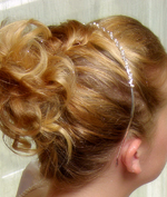 Bridal Headband Curls