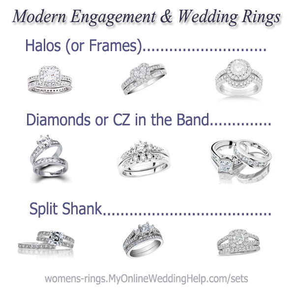 modern engagement and wedding rings - Popular Wedding Rings