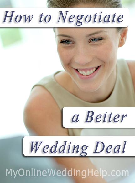 How to Negotiate Wedding Deals