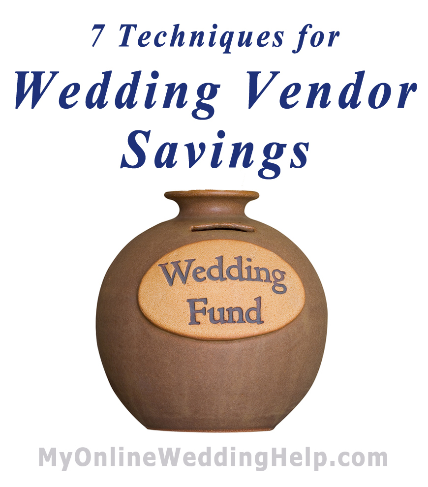 Techniques for Wedding Vendor Savings