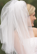 Ivory or white wedding veil