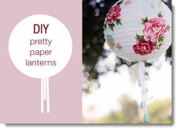 How to Decorate Paper Lanterns. Wedding Uggs? 1