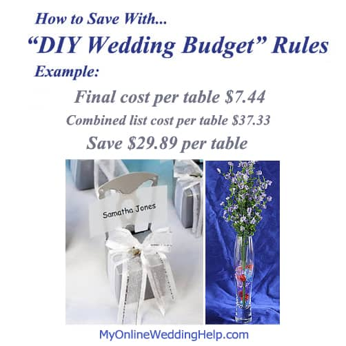 "Saving with ""DIY Wedding Budget"" Rules"