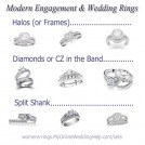 Modern Engagement and Wedding Rings
