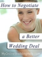 How to Negotiate a Better Wedding Deal
