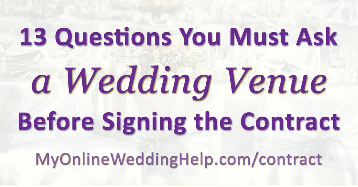 Wedding Venue Contract Tips: 13 Questions to Ask Before Signing ...