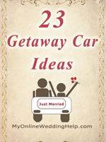 23 alternatives to a limo for the wedding car / transportation. MyOnlineWeddingHelp.com
