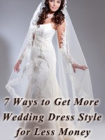 How to save money on a wedding gown.