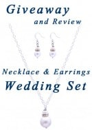 Giveaway and Review: Drop Pearl Necklace and Earrings Wedding Set