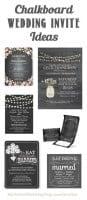 Chalkboard Wedding Invitation Ideas