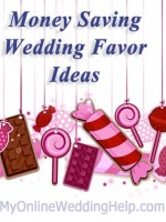 Money-Saving Wedding Favor Ideas. | http://www.myonlineweddinghelp.com