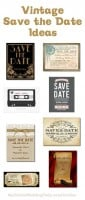 Vintage Save the Date Ideas