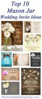 Top 10 Mason Jar Wedding Invitation Ideas