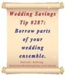 Budget Wedding Idea #287: Borrow parts of your wedding-day ensemble