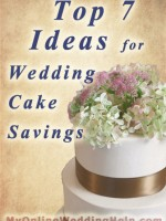 Wedding cake ideas ... saving money while still having great cake and desert for the wedding reception. | #MyOnlineWeddingHelp MyOnlineWeddingHelp.com
