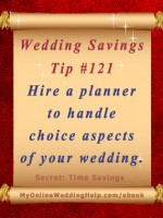 Wedding Idea on a Budget: Hire a wedding planner for choice aspects of your wedding. Saves you time and stress, freeing you up to do things you are better at. #myonlineweddinghelp MyOnlineWeddingHelp.com