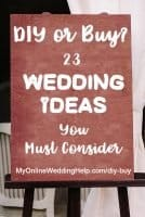 Buy or DIY? Wedding Planning Ideas you MUST Consider When Hiring Vendors