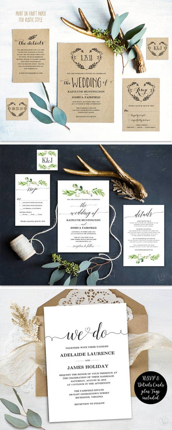 Wedding card designs templates help you create cheap wedding invitations while still getting professional designs. You buy the file for these and DIY by printing on your own paper. There is a link in the article to the lady who sells them. ----Promotional Buy Link: http://tidd.ly/51529c0c ------ #cheapweddinginvitations #DIYInvitations #WeddingInvitations #InvitationTemplates