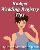 Budget Wedding Registry Tips