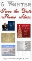 5 Winter Save the Date Theme Ideas