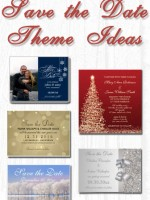Winter wedding save the date ideas ... snowflakes, Christmas, snowy tree landscapes, silver, New Year