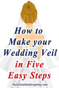 How to Make a Wedding Veil with Comb. 5 Steps! 23