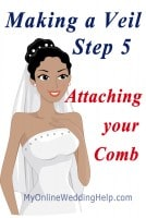 How to Make a Wedding Veil with Comb. 5 Steps! 22