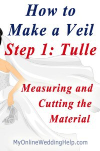 How to Make a Wedding Veil with Comb. 5 Steps! 24