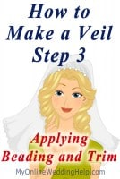 How to Make a Wedding Veil with Comb. 5 Steps! 20