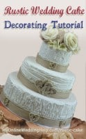 Elegant Rustic Wedding Cake Tutorial (no decorating experience required)