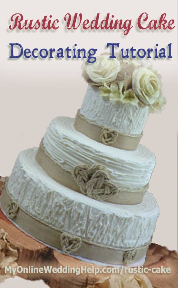 Cake Decorating Gift Experience : Elegant Rustic Wedding Cake Tutorial (no decorating ...
