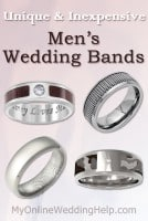 Unique & Inexpensive Men's Wedding Bands