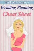 "7-Step Wedding Guide Checklist and Printable ""Cheat Sheet"" 3"