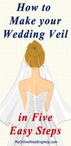How to Make a Wedding Veil with Comb. 5 Steps! 12