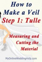 How to Make a Wedding Veil with Comb. 5 Steps! 16