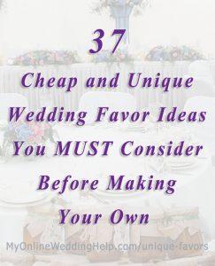 37 Non-Traditional Wedding Favor Ideas You'll Adore 1