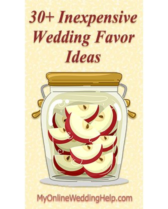 30 Inexpensive Wedding Favor Ideas My Online Wedding Help Budget Wedding Blog