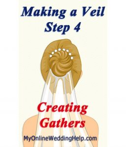 How to Make a Wedding Veil with Comb. 5 Steps! 14