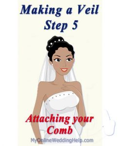 How to Make a Wedding Veil with Comb. 5 Steps! 13