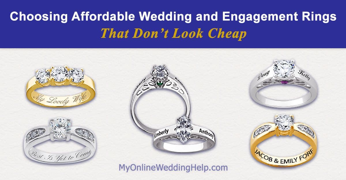 how to choose affordable engagement and wedding rings that do not look cheap my online wedding help budget wedding blog - Cheapest Wedding Rings