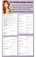 Wedding Budget Calculator and Planner