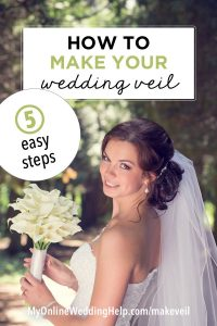 How to Make a Wedding Veil with Comb. 5 Steps! 6