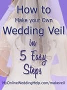 How to Make a Wedding Veil in 5 Easy Steps. DIY bridal veil.