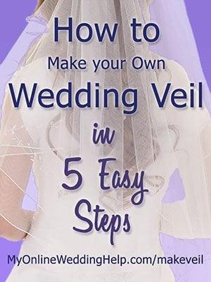 How to Make a Wedding Veil in 5 Easy Steps. DIY bridal veil. - My ...