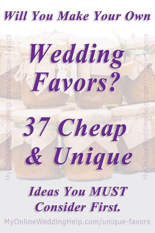 37 cheap and unique wedding favor ideas